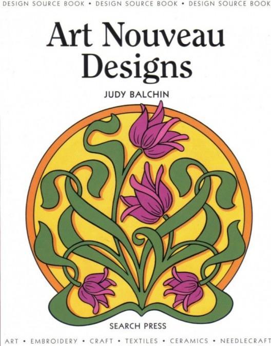 Art Nuvo dizaynları kitabın üz qabığı