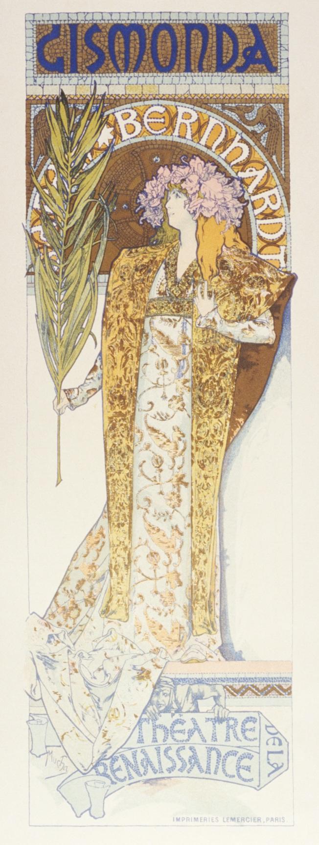 Alfons Muxanın Sara Bernar üçün afişası